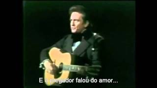 """Johnny Cash & Billy Graham: """"The preacher said, Jesus said."""" (legendado em português)"""