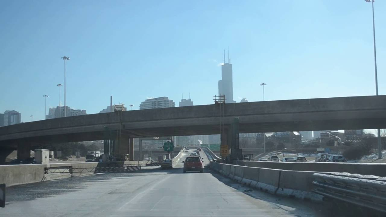[IL] I-94 EB and I-90 EB (Kennedy Expressway Express Lanes) in Chicago (Dec  2013)