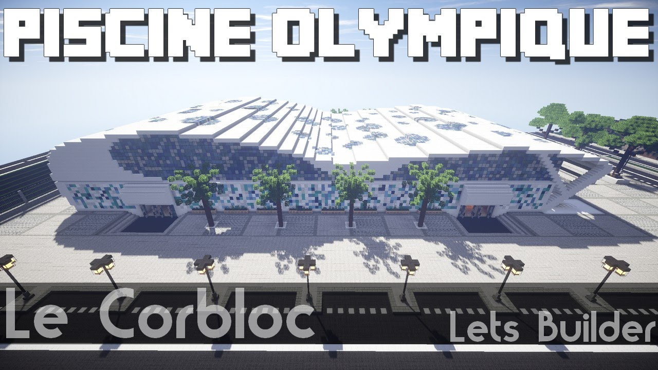 Minecraft piscine olympique youtube for Piscine olympique