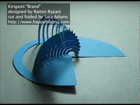 Kirigami Models designed by Ramin Razani
