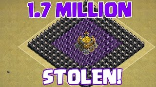 Clash Of Clans - 1.7 MILLION STOLEN! (Top 5 Raids)