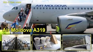 Air Moldova's first BRAND NEW Airbus A319, great flight to Chisinau! [AirClips full flight series]