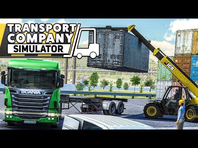 TRANSPORT COMPANY SIMULATOR #2: Container auf SCANIA LKW verladen!