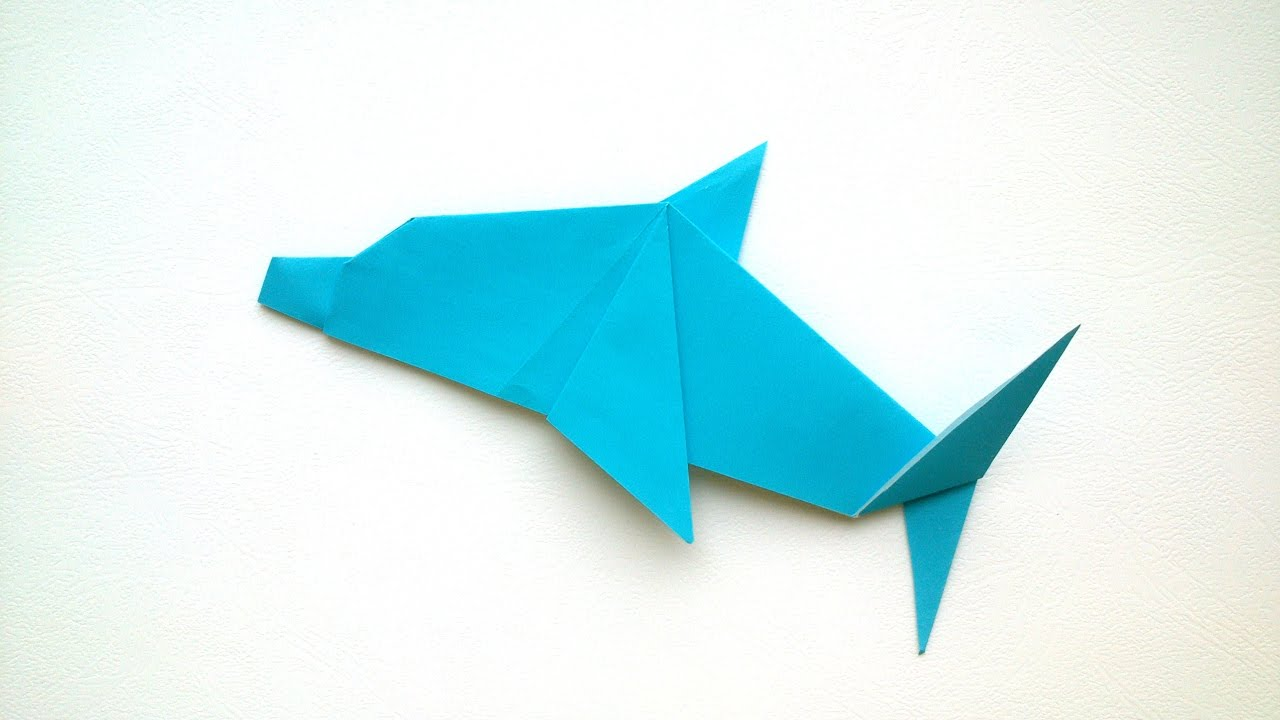 origami for kids origami dolphintutorial youtube
