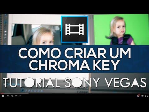 Como CRIAR um Chroma Key - Tutorial Sony Vegas