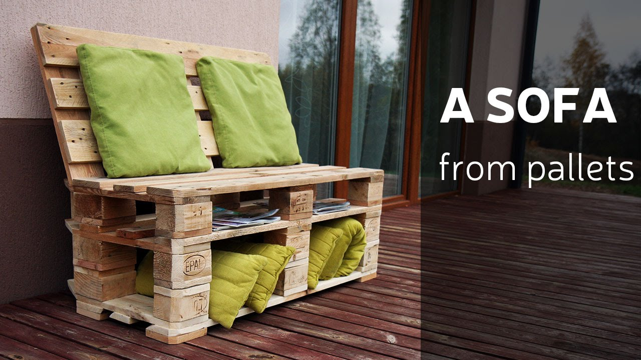 How to make a sofa from pallets youtube - Sofas para terrazas ...