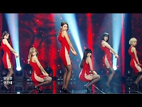 AOA 짧은치마(Mini Skirt) New Dance Ver. _흔들려 confused Music Bank 140124 _elvis get out seolhyun choa