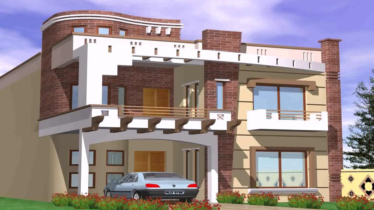 5 Marla House Front Elevation Design Youtube