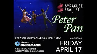 Enjoy the story you love with Syracuse City Ballet. Fly away with us to Neverland! Direction and Choreography Kathleen Rathbun With Jake Casey as Peter Pan ...