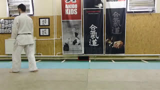 ushiro ukemi (baskwards roll) 2. variation [TUTORIAL] Aikido empty hand technique: