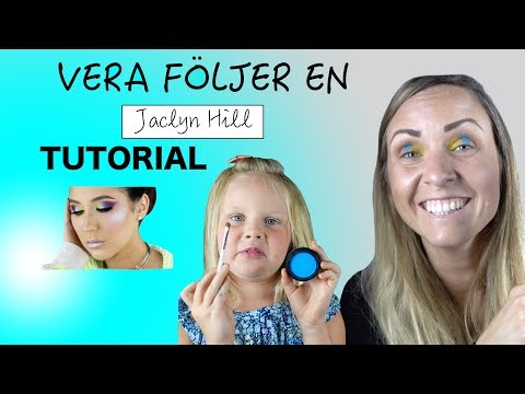 Vera Följer en Jaclyn Hill Tutorial -Rainbow Makeup- thumbnail