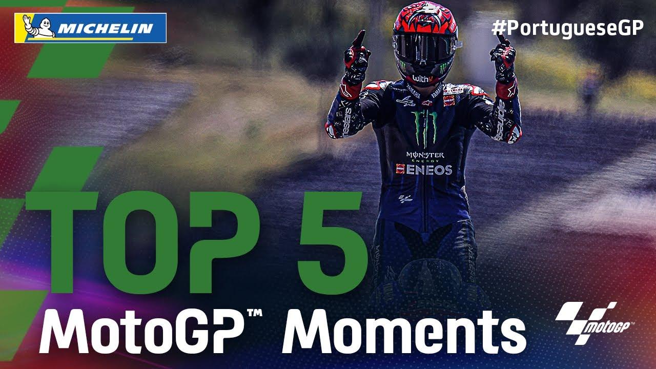 Top 5 MotoGP™ Moments by Michelin | 2021 #PortugueseGP