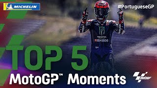 Top 5 MotoGP™ Moments by Michelin | 2021 #PortugueseGP