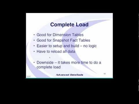 Data Warehouse Webcast 3-Successfully Transform and Load your Data Warehouse