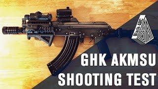 GHK AKMSK SHOOTING TEST | Black_Arc Airsoft |
