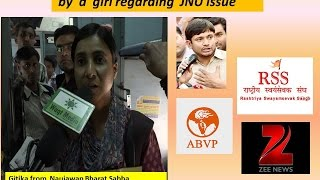 RSS , ABVP   Zee news  is exposed by  a  girl regarding  JNU issue
