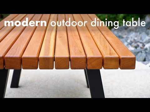 Modern Outdoor Dining Table and Pergola Build // How To - Woodworking