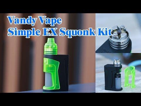 The first Nic Salts Squonk Kit! Vandy Vape Simple EX Squonk