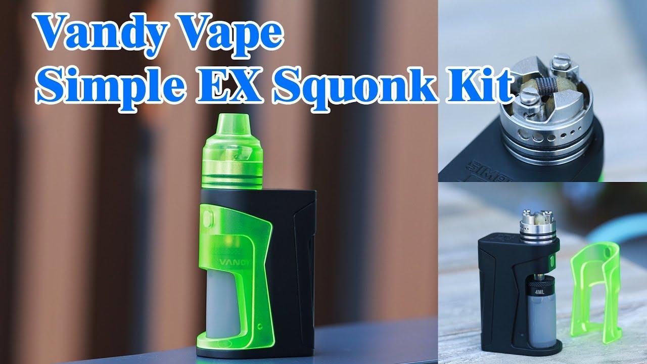 The first Nic Salts Squonk Kit! Vandy Vape Simple EX Squonk Kit   ElegoMall