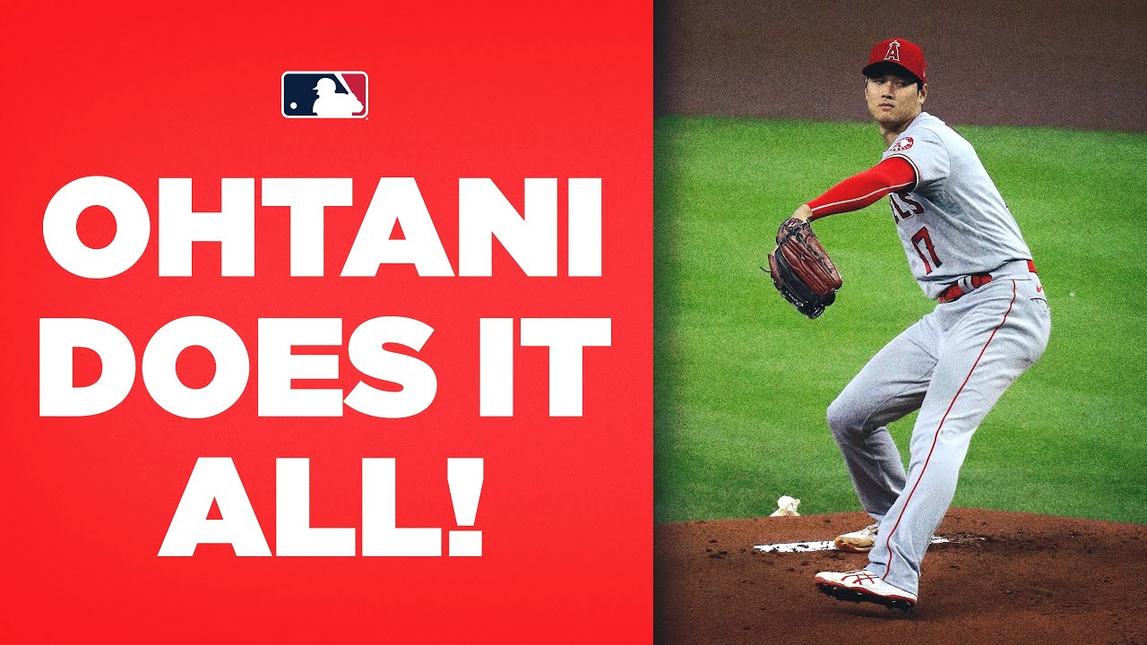 Shohei Ohtani DOES IT ALL! (Strikes out 10 on the mound, singles at the plate, plays right field!!)