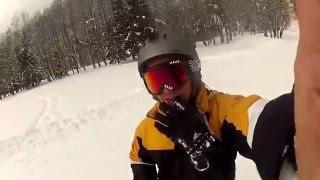 Snowboarding in Chamonix, France - Mont Blanc 2015 - Brévent-Flégère