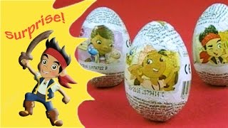 Jake and the Neverland Pirates surprise eggs with Doc McStuffins Surprise Eggs, 3 ovetti sorpresa