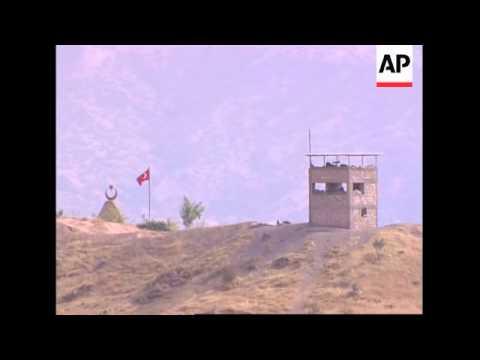Turkish military activity on Iraq border, artillery