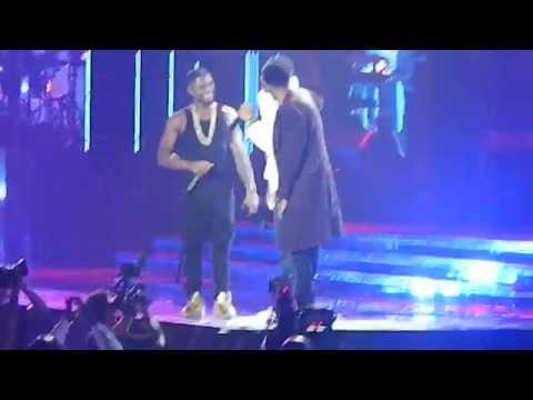 Usher brings out Chris Brown, August...