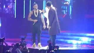 Usher brings out Chris Brown, August Alsina, Kid Ink & Jeremih live @URXTOUR LA