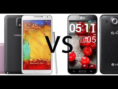 Samsung Galaxy Note 3 vs LG Optimus G Pro, comparativa (en español)