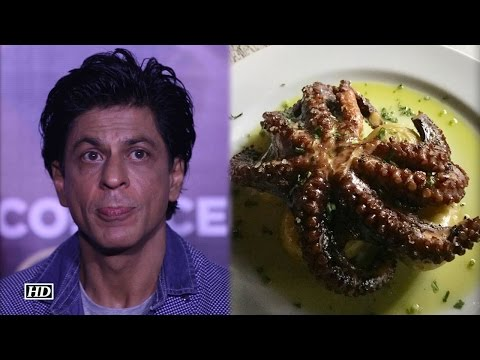 OMG ! SRK Eating Scary Octopus in Lunch
