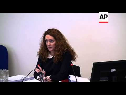 Ex-tabloid chief Rebekah Brooks gives evidence at ethics inquiry