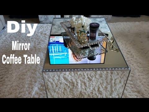 DIY Mirror Coffee Table|DIY Mirror Furniture |Mirror Home Decor