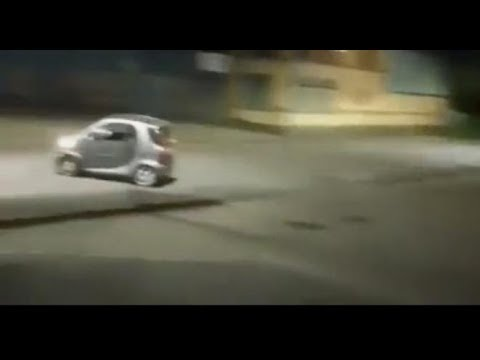 Adam Rivers - DARWIN AWARD: Dude tries to do tricks in his Smart Car.... and this happens