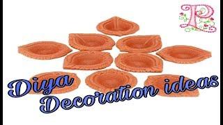 Diya Decoration    Easy Diya decoration idea for diwali    How to Decorate diya at home