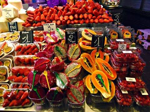 #Barcelona nevezetességei: La #Boqueria piac.