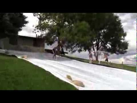 David at the Slip and slide