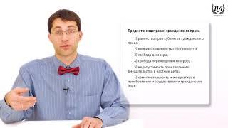 Обществознание (ЕГЭ). Урок 34. Гражданское право РФ. Общая информация. Субъекты гражданского права.