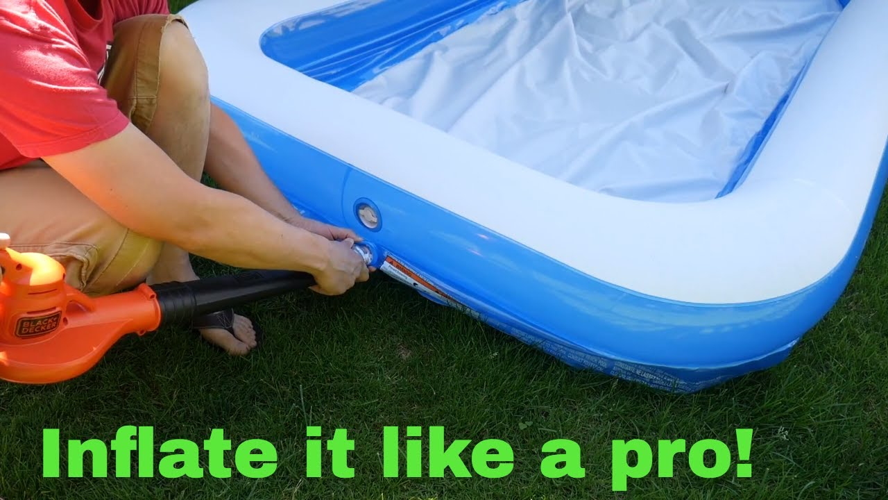 How To Inflate A Pool In 3 Minutes Youtube