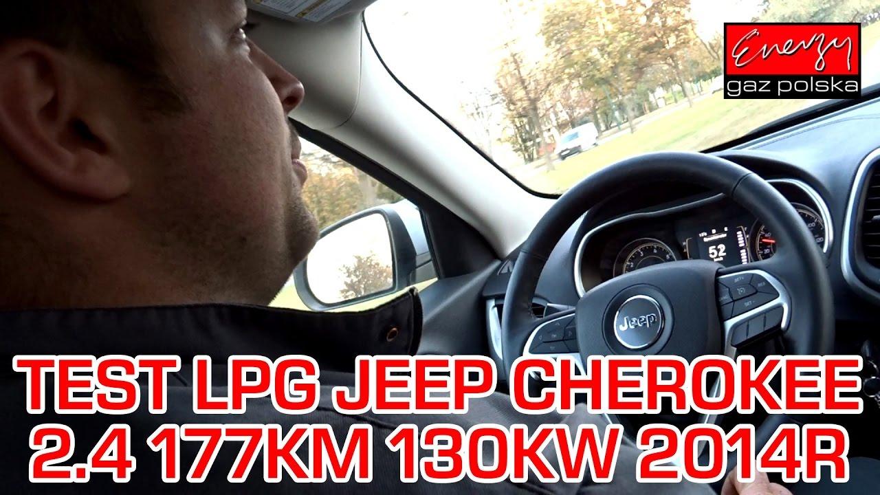 Test LPG Jeep, próba drogowa, strojenie: Jeep Cherokee z 2.4 177KM 2014r na gaz BRC Sequent 32 w EGP