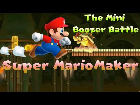 Super Mario Maker 100 Mario Challenge Expert Mode The Mini Boozer Battle!