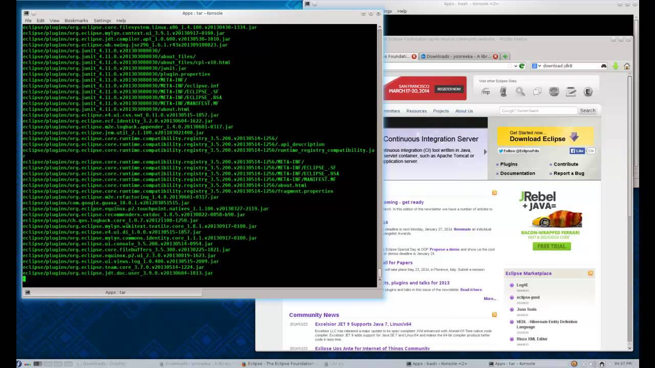 Install Java and Eclipse on Fedora Core (Linux)