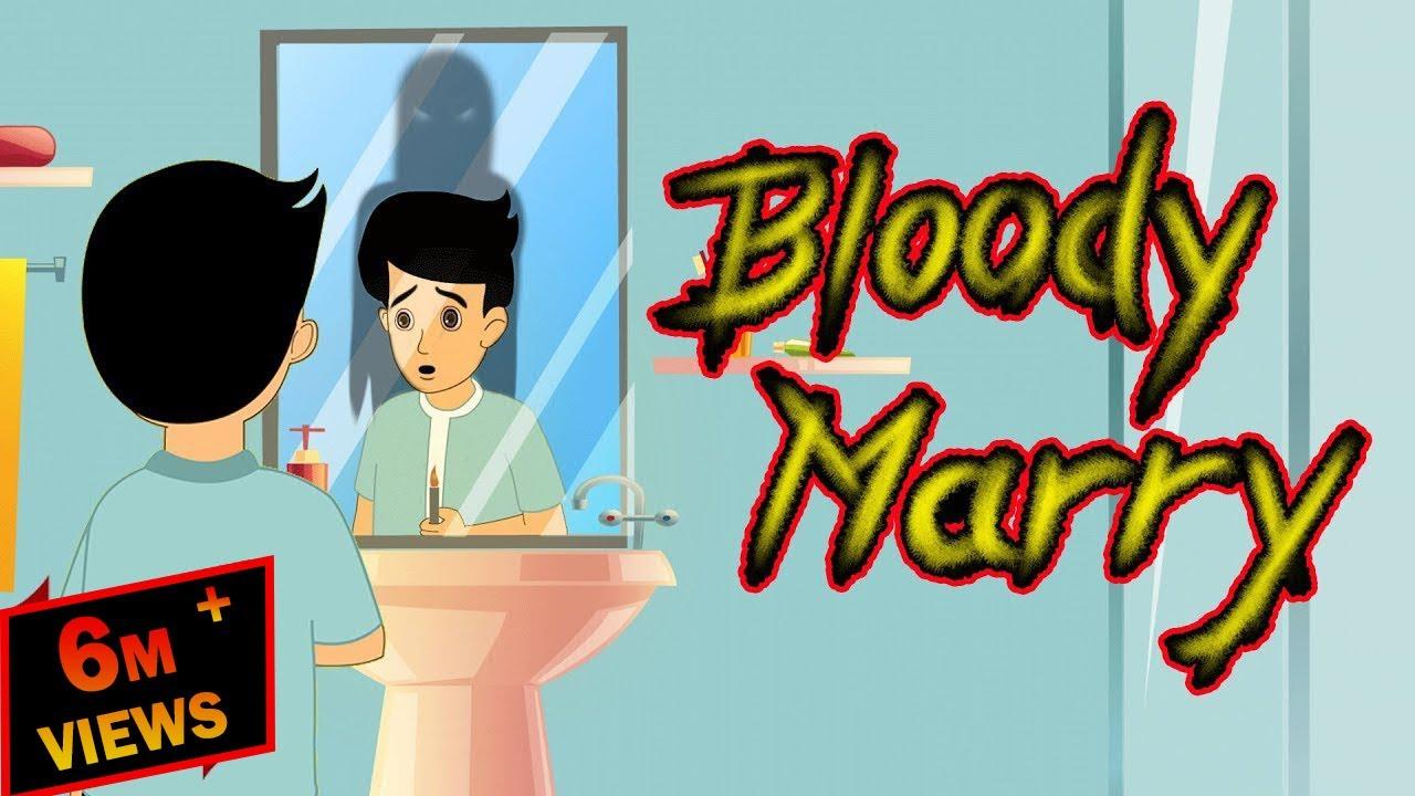 Bloody Marry (Horror Story)   Horror stories for kids   Hindi Cartoon   Mahacartoon Tv Adventure