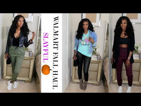 WALMART Clothing HAUL / TRY-ON! LOOK BOUGEE ON A BUDGET! SLAYFUL WALMART FALL HAUL!