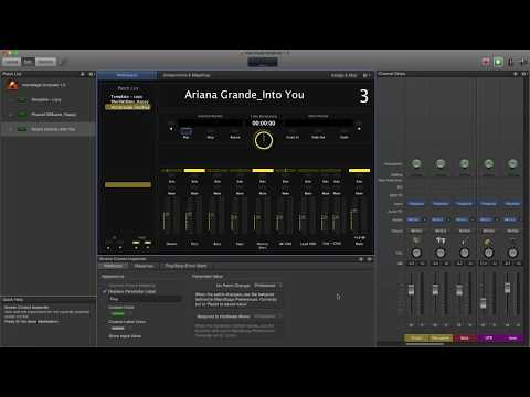 MainStage 3 backing tracks template For playback with click and cue track