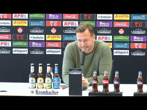Livestream: Pressekonferenz vor dem Heimspiel gegen den VfR Aalen