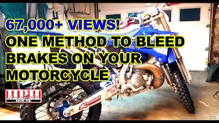 Rear Brake Fluid Change & Bleed Yamaha YZ250 - same on most motorcycles though