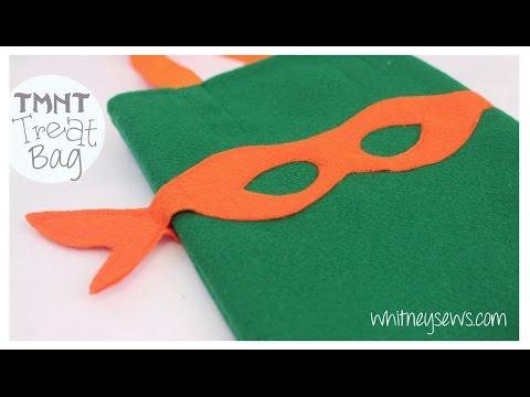 TMNT Treat Bag How to {EASY} - Whitney Sews | Halloween DIY