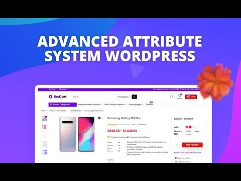 Advanced Specifications, Product Swatches and Attribute panels in Rehub thumbnail