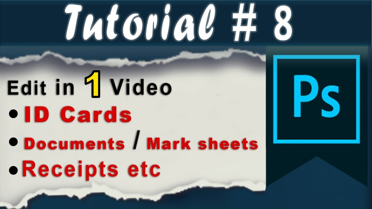 Edit Id Card and Document in Photoshop with Practical Examples